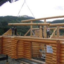 timmerhus konstruktion pa plats